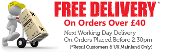 Free Delivery On orders Over £40 For Retail Customers.