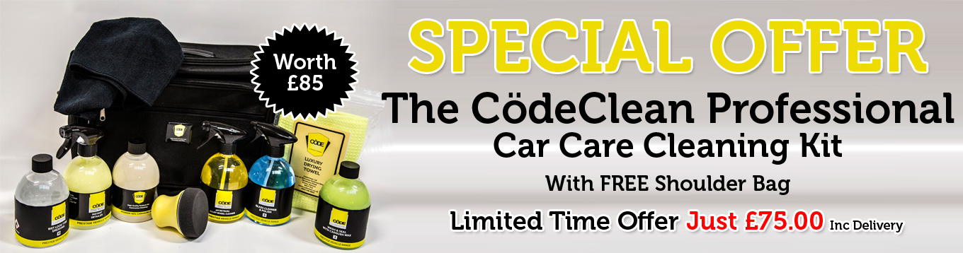 Codeclean Auto Products - Car Care Kit Bag Worth £85.00