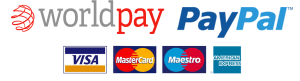 All Major Credit & Debit Cards Accepted through Worldpay & Paypal